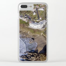 Rotherslade Bay and Langland Bay Clear iPhone Case