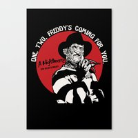 freddy krueger Canvas Prints featuring Freddy K quote v2 by Buby87