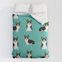 TriCorgis - Cute corgi, dog pet, corgi decor, corgi pillow, corgi bedding, corgi pattern, cute corgi Comforters