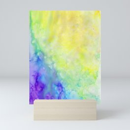 Bright and Cool Watercolor Tones Mini Art Print
