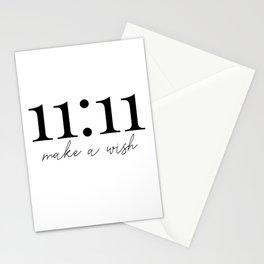 11:11 make a wish Stationery Cards