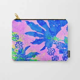 Tropical Adventure - Neon Blue, Pink and Green #tropical #homedecor Carry-All Pouch