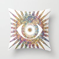 prism Throw Pillows featuring PRISM by shutupbek