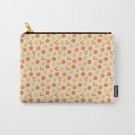 Fruits Pixel Art Pattern | Apple Pear Orange Cherry Peach Carry-All Pouch