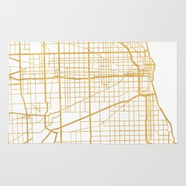 CHICAGO ILLINOIS CITY STREET MAP ART Rug