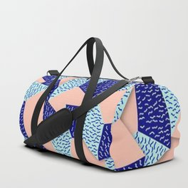 Colorful Aqua Geometric Pattern Duffle Bag