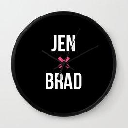 JEN + BRAD Wall Clock