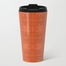 Op Art 18 - Coral Travel Mug