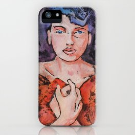 Alana in Red iPhone Case