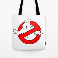 ghostbusters Tote Bags featuring ghostbusters by tshirtsz