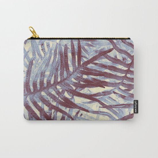 Scanned Ferns Carry-All Pouch