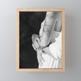 "Wedding photography ""Couple in Black & White"" | Modern wall art Ibiza Spain love story white tones c Framed Mini Art Print"