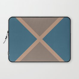 Brown Blue Minimal Diagonal Line Pattern 2021 Color of the Year Canyon Dusk & Accent Shades Laptop Sleeve