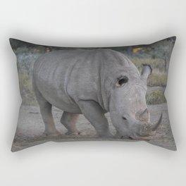 White Rhino Rectangular Pillow