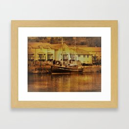 There's a Boat Coming in. Framed Art Print