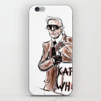 karl iPhone & iPod Skins featuring Karl who? by Kalli