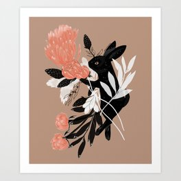 Black Rabbit Art Print