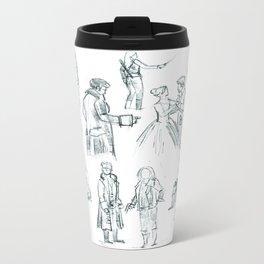 Sketchbook Drawings Metal Travel Mug