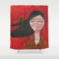 samurai Shower Curtains featuring Samurai by Paula Zak