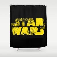 starwars Shower Curtains featuring StarWars  by WaXaVeJu