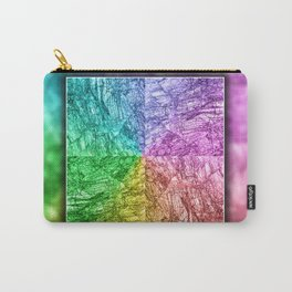 Petrified Wood in vibrant colors Carry-All Pouch