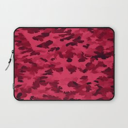 Foliage Abstract Pop Art Blush Red Laptop Sleeve