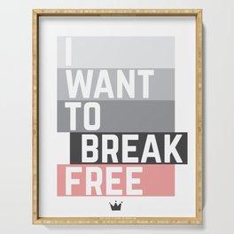 BREAK FREE Serving Tray