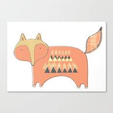 Fox Print Canvas Print