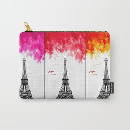 Triple Eiffel Carry-All Pouch