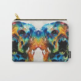 Colorful Dog Art - Heart And Soul - By Sharon Cummings Carry-All Pouch