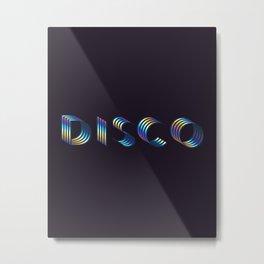 DISCO #society6artprint #decor #disco Metal Print
