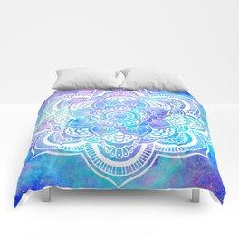 Mandala Pink Lavender Aqua Galaxy Space Comforters
