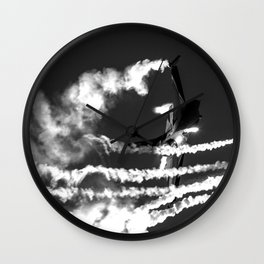 Belgian F16 and Flares Wall Clock