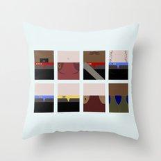 DS9  Characters - Minimalist Star Trek DS9 Deep Space Nine - Defiant - startrek - Trektangles Throw Pillow
