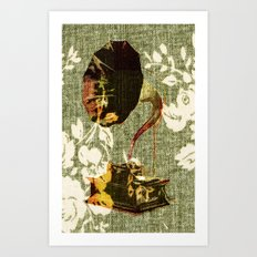 Dueling Phonographs I Art Print