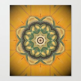 Sunflower // Vibrant Yellow Flower Pattern Healing Energy Mandala Meditation Solar Plexus Chakra Canvas Print