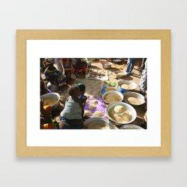 Market Day Framed Art Print