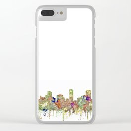 Denver, Colorado Skyline SG - Faded Glory Clear iPhone Case