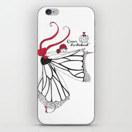 Katharina- Lady butterfly iPhone Skin