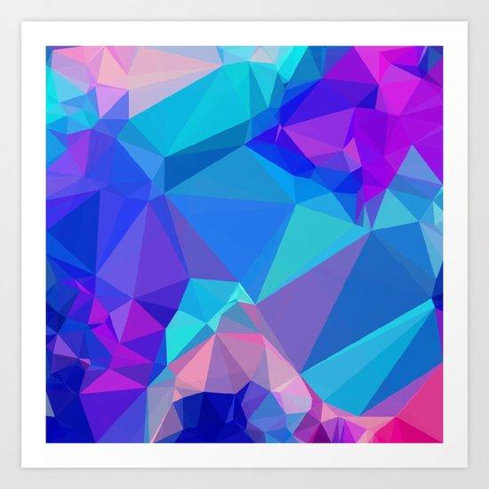 Neon Ice Art Print