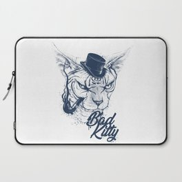 Angry sphinx cat with a tube - Bad Kitty Laptop Sleeve