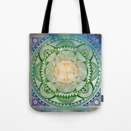 Metta Mandala, Loving Kindness Meditation Tote Bag
