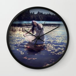 Lily-Pad Queen Wall Clock