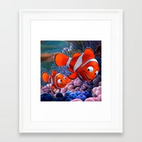 nemo Framed Art Prints featuring Nemo by Max Jones