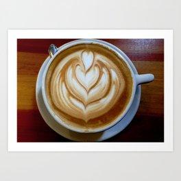 Saturday Morning Coffee Shops Art Print