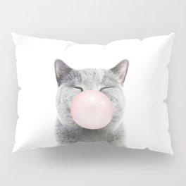 Bubble Gum Cat Pillow Sham