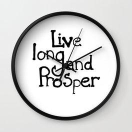 Live Long and Prosper.  Wall Clock