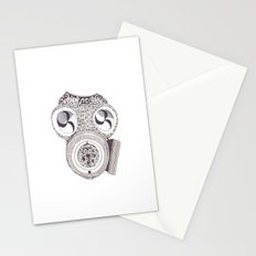 Celtic gasmask Stationery Cards