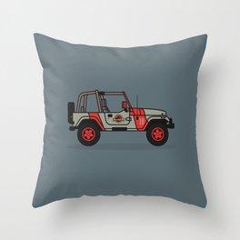 Jurassic Park Jeep Throw Pillow