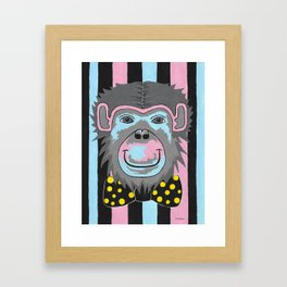 Chimp Off The Old Block Framed Art Print